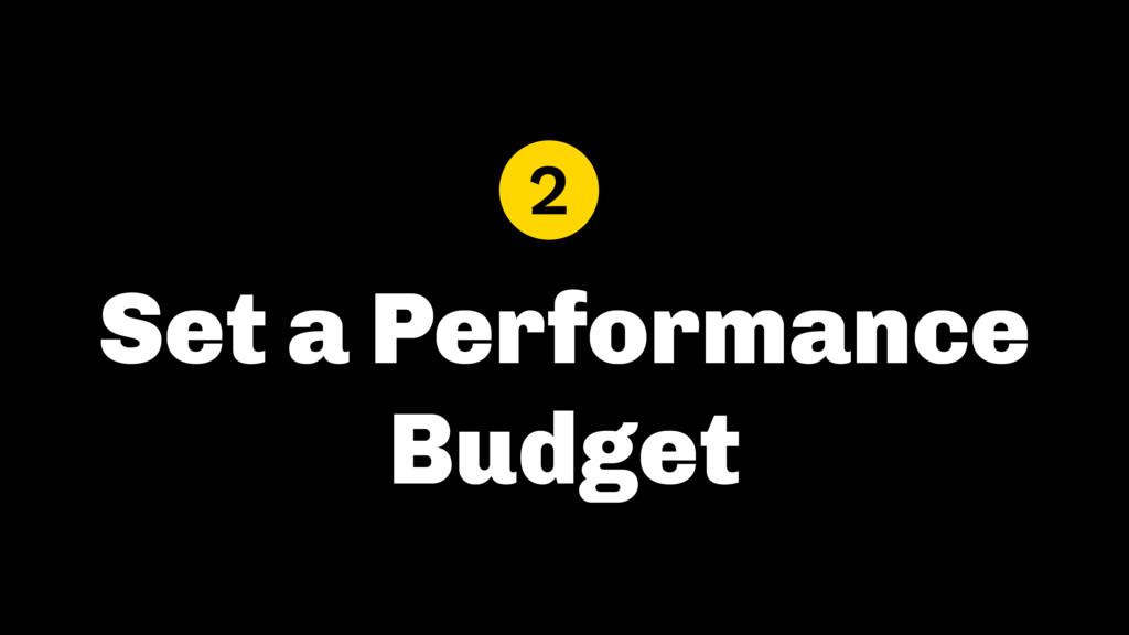 Set a Performance Budget 2