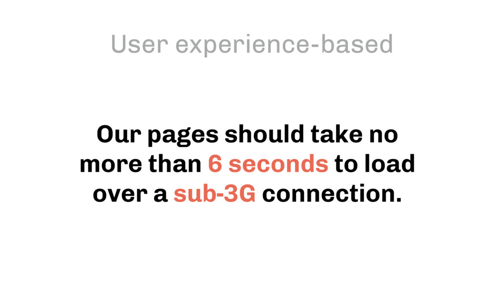 Our pages should take no more than 6 seconds to...