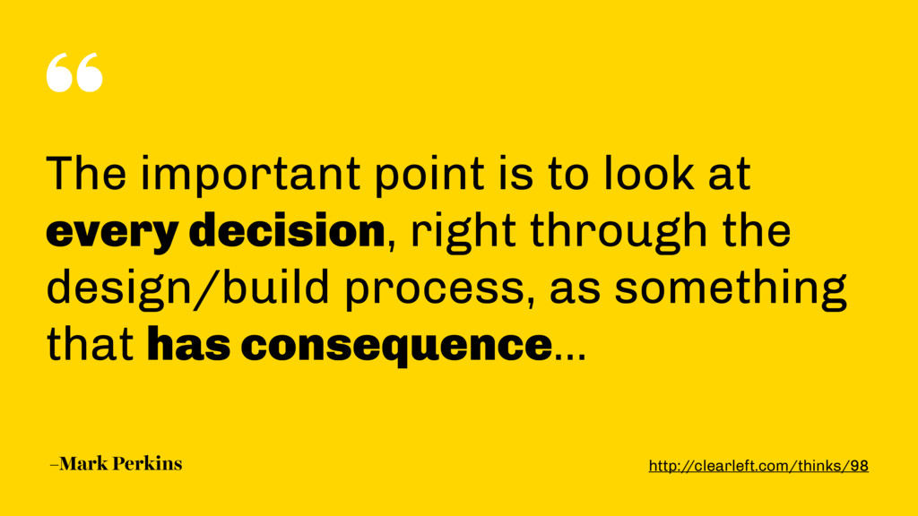 """"""" –Mark Perkins The important point is to look ..."""