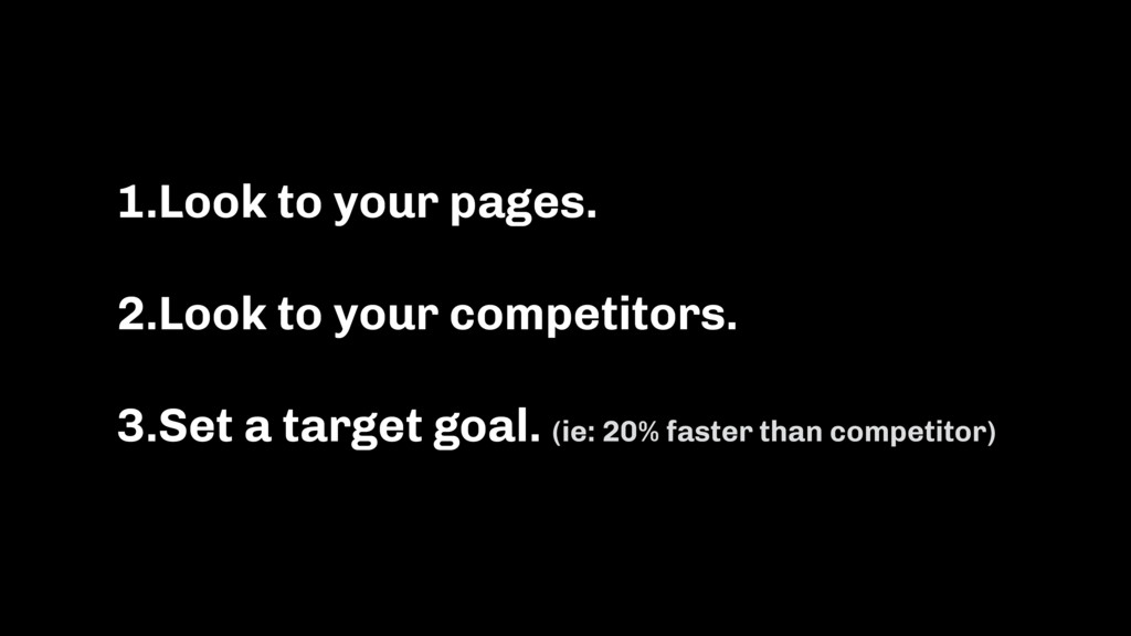1.Look to your pages. 2.Look to your competitor...