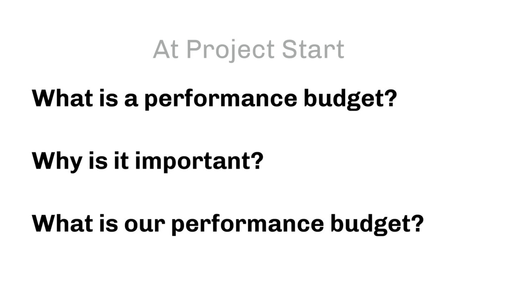 What is a performance budget? Why is it importa...