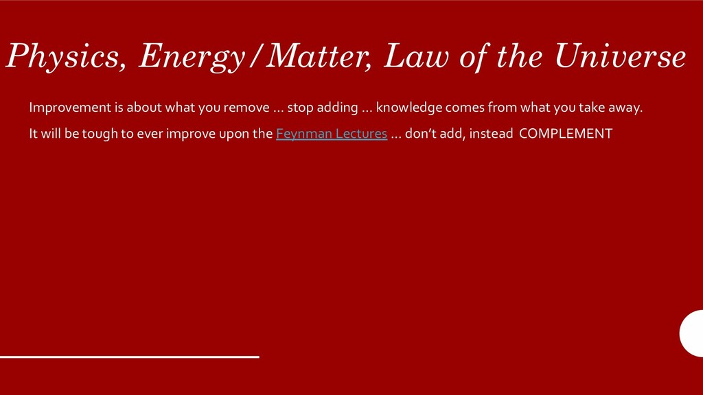 Physics, Energy/Matter, Law of the Universe Imp...