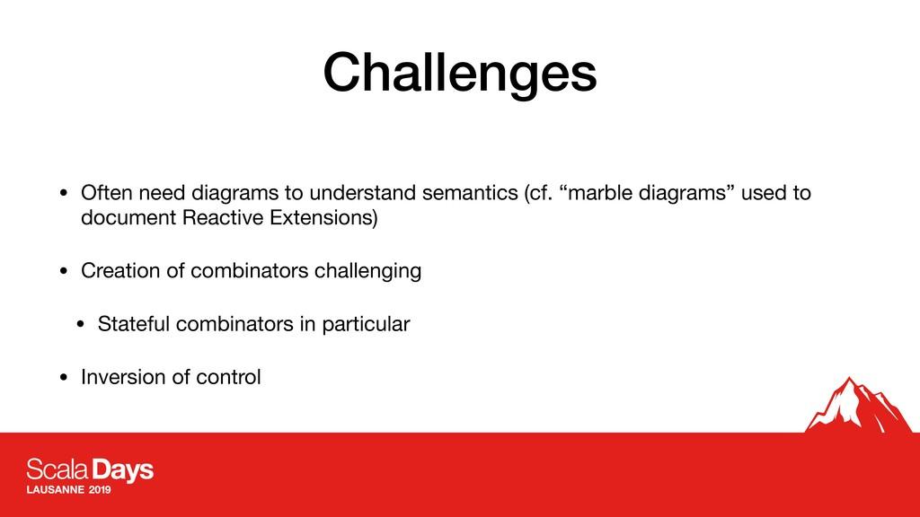 Challenges • Often need diagrams to understand ...