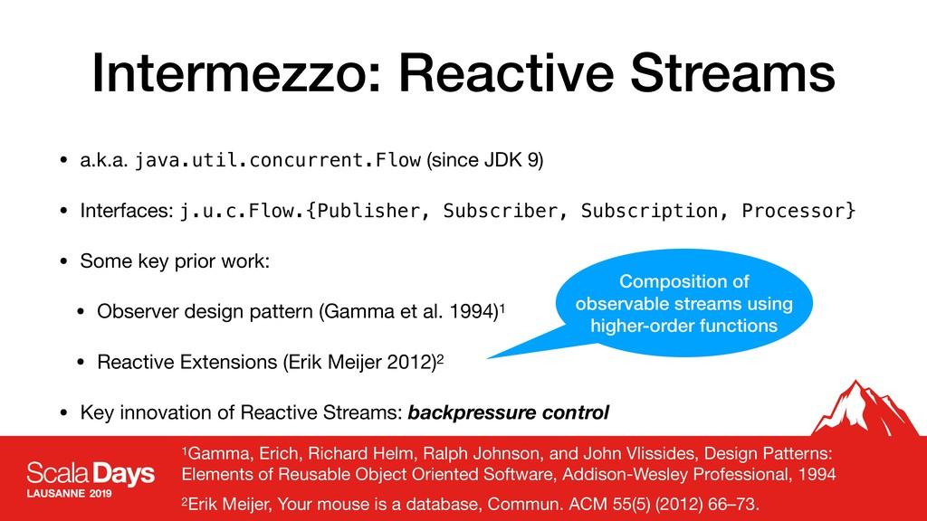 Intermezzo: Reactive Streams • a.k.a. java.util...