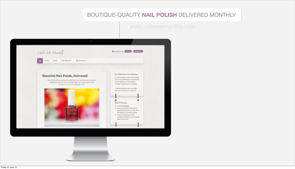 BOUTIQUE-QUALITY NAIL POLISH DELIVERED MONTHLY ...