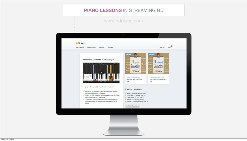 PIANO LESSONS IN STREAMING HD www.hdpiano.com F...