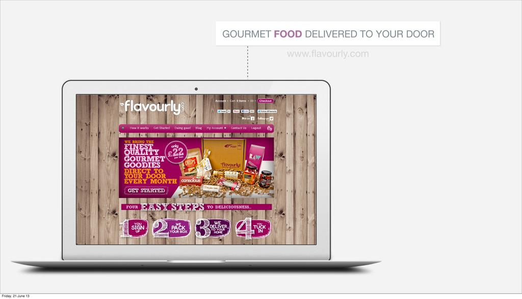 GOURMET FOOD DELIVERED TO YOUR DOOR www.flavourl...