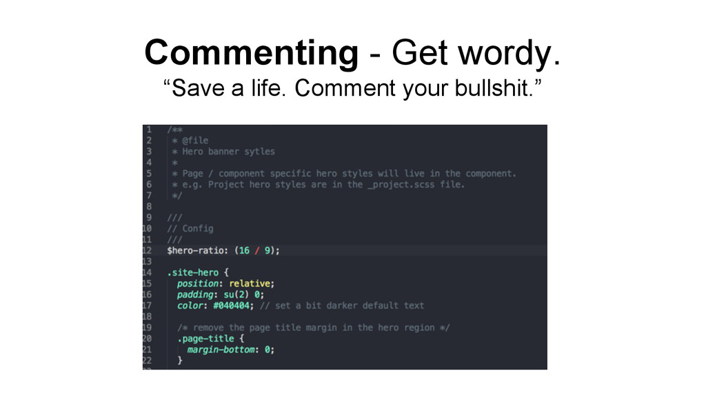 "Commenting - Get wordy. ""Save a life. Comment y..."