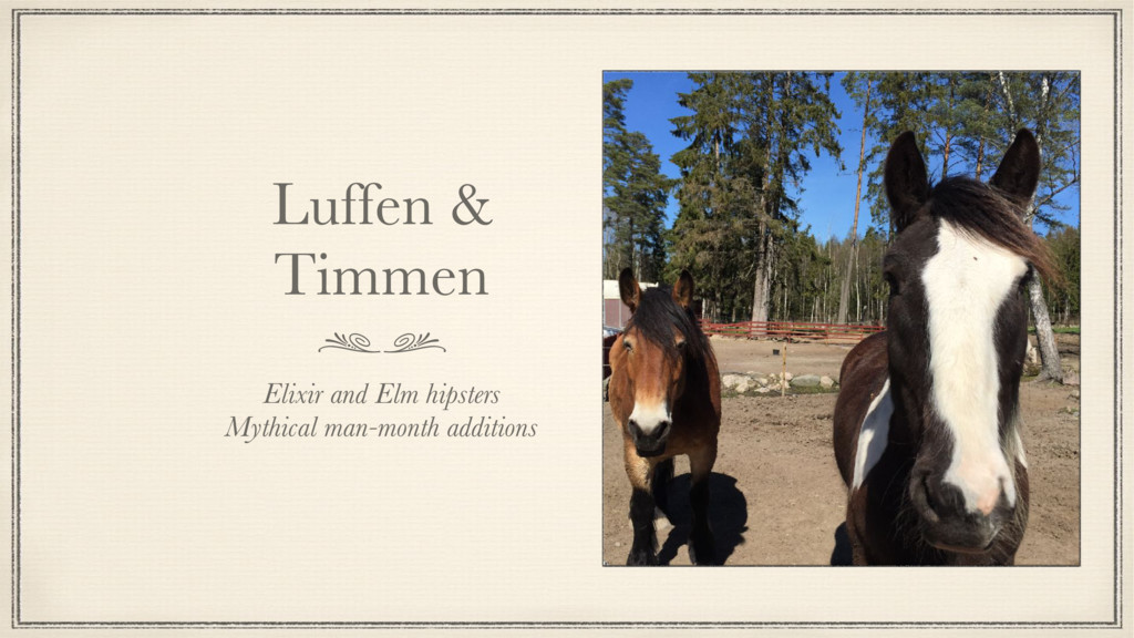 Luffen & Timmen Elixir and Elm hipsters Mythica...