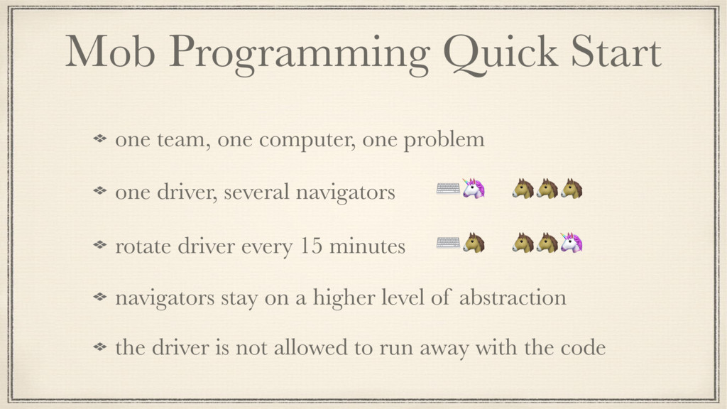 Mob Programming Quick Start one team, one compu...