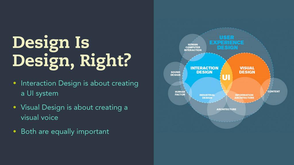 Design Is Design, Right? • Interaction Design i...