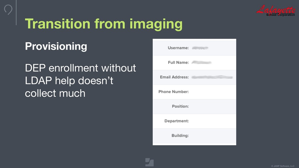 © JAMF Software, LLC Transition from imaging Pr...