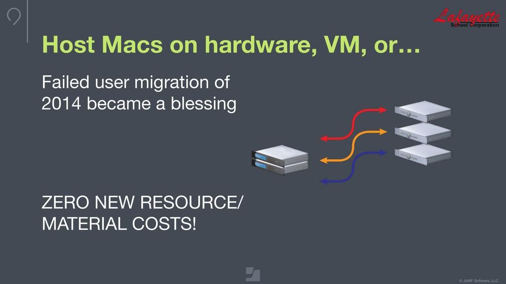 © JAMF Software, LLC Host Macs on hardware, VM,...