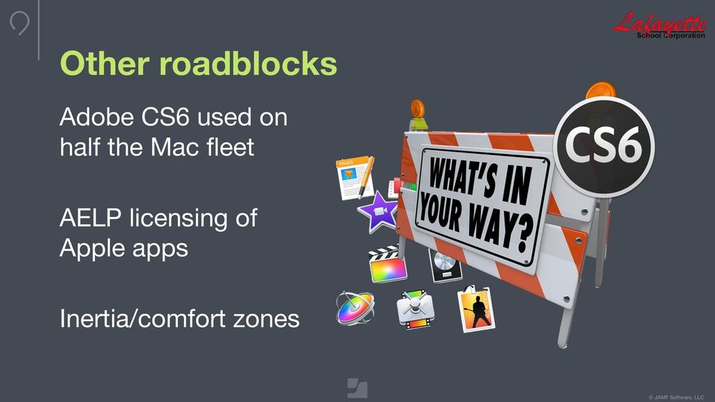 © JAMF Software, LLC Other roadblocks Adobe CS6...