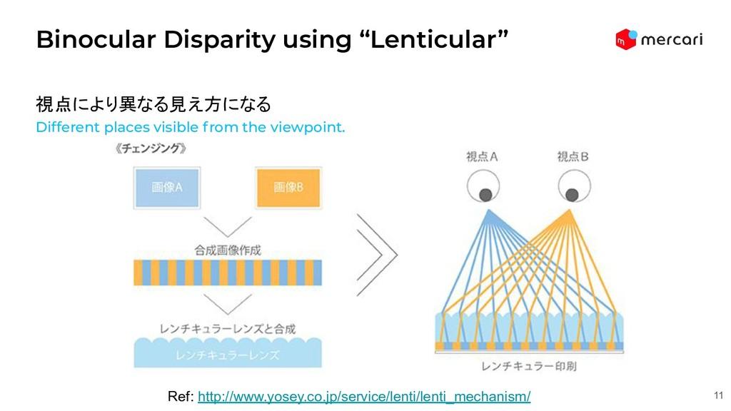 """Binocular Disparity using """"Lenticular"""" 11 Ref: ..."""