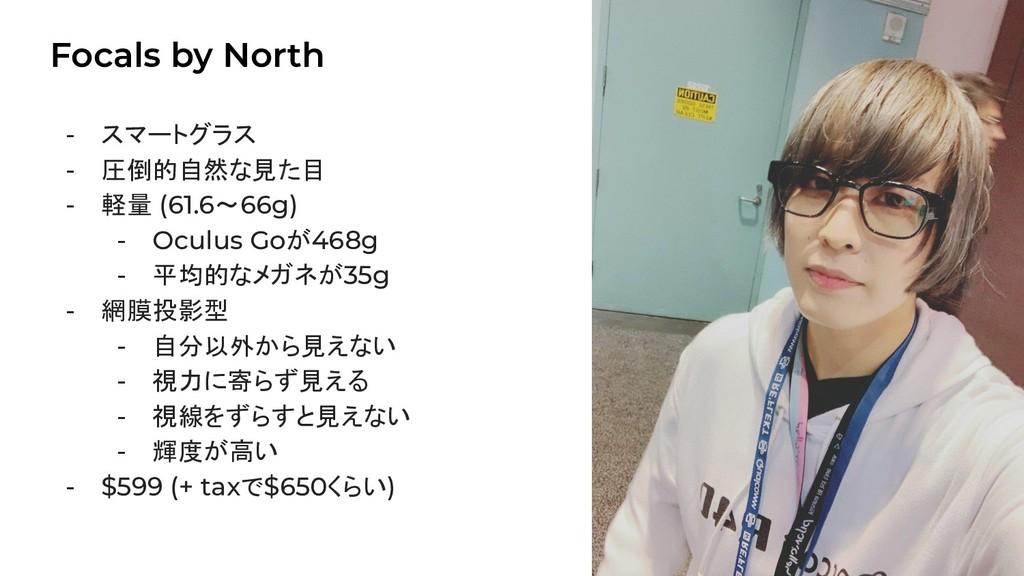 Focals by North 18 - スマートグラス - 圧倒的自然な見た目 - 軽量 (...