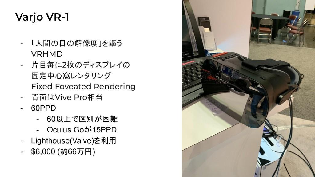 Varjo VR-1 22 - 「人間の目の解像度」を謳う VRHMD - 片目毎に2枚のディ...