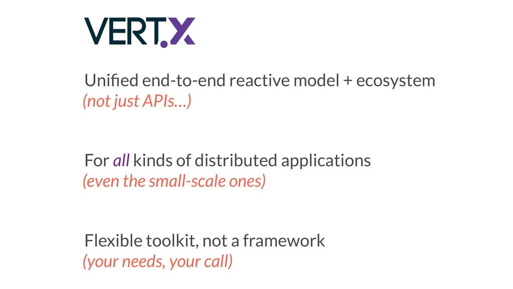 Unified end-to-end reactive model + ecosystem (n...