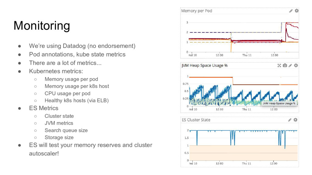 Monitoring ● We're using Datadog (no endorsemen...
