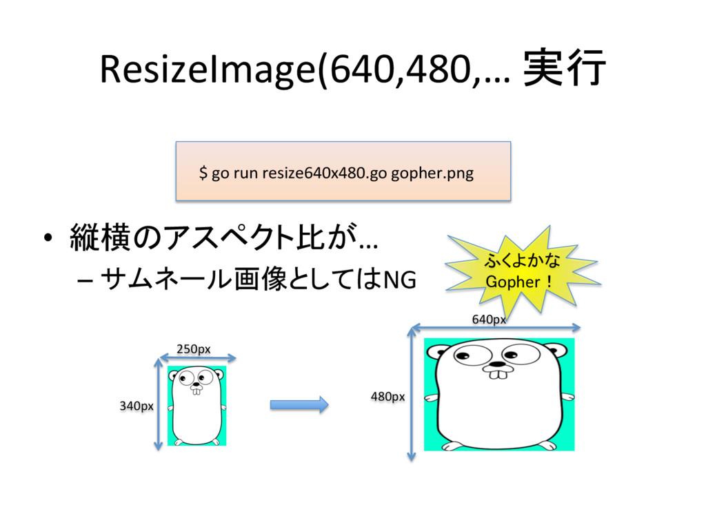 ResizeImage(640,480,… 実行   • 縦横のアスペクト比...