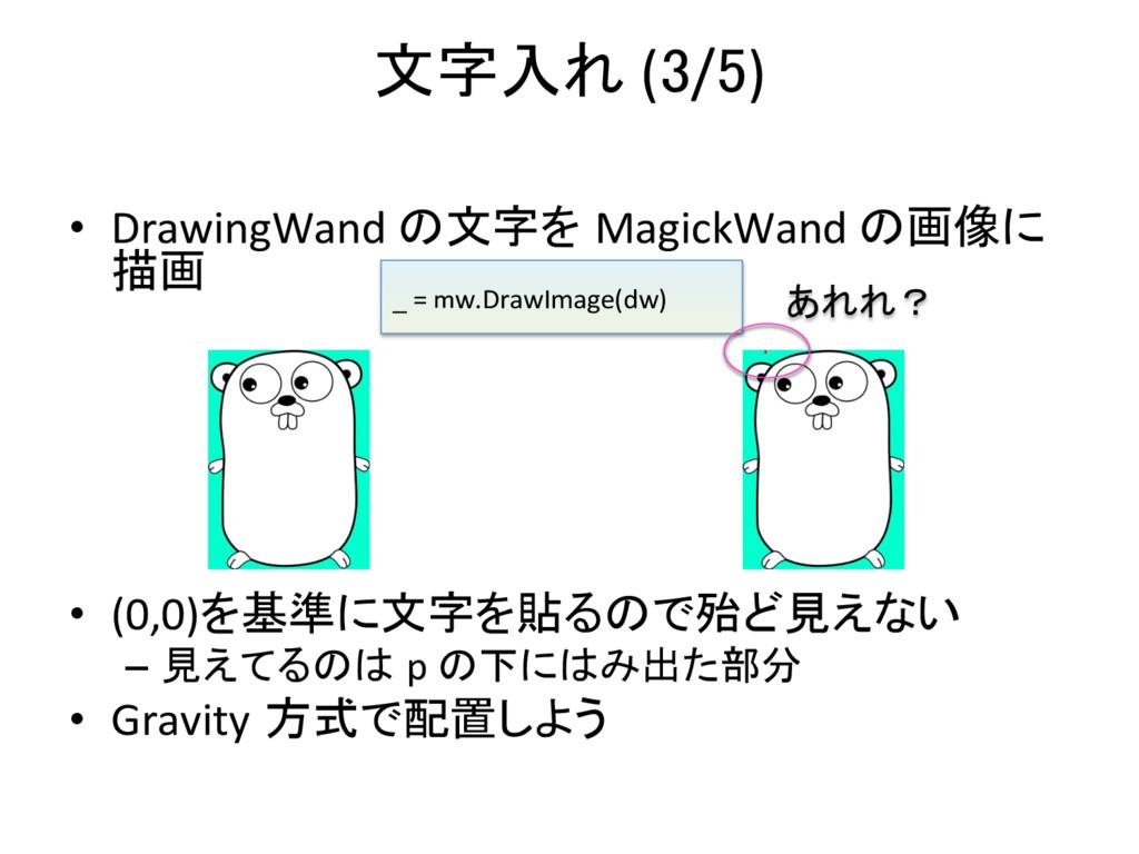 文字入れ (3/5)   • DrawingWand の文字を Mag...