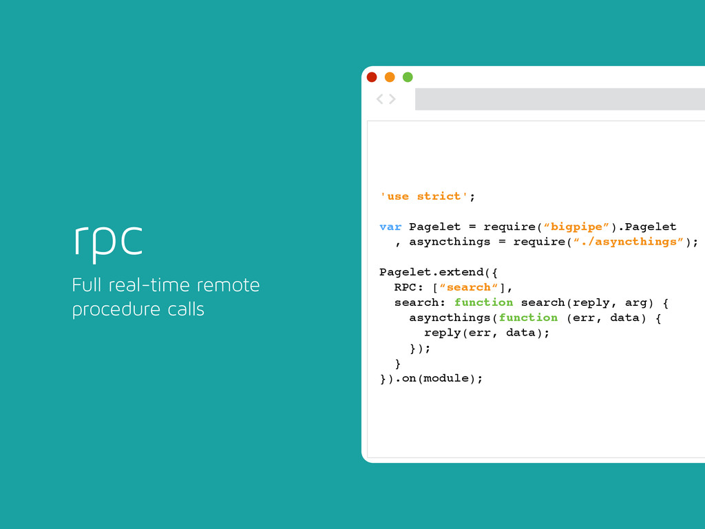 rpc Full real-time remote procedure calls ◅ ▻ '...