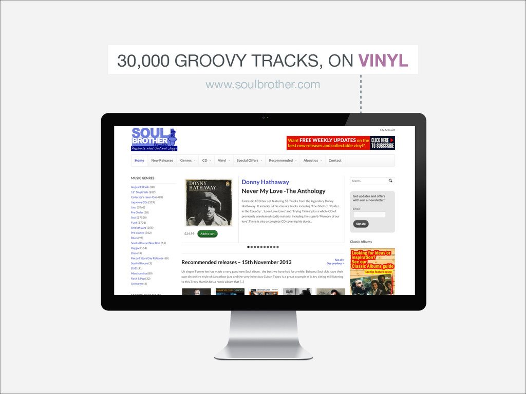 30,000 GROOVY TRACKS, ON VINYL www.soulbrother....
