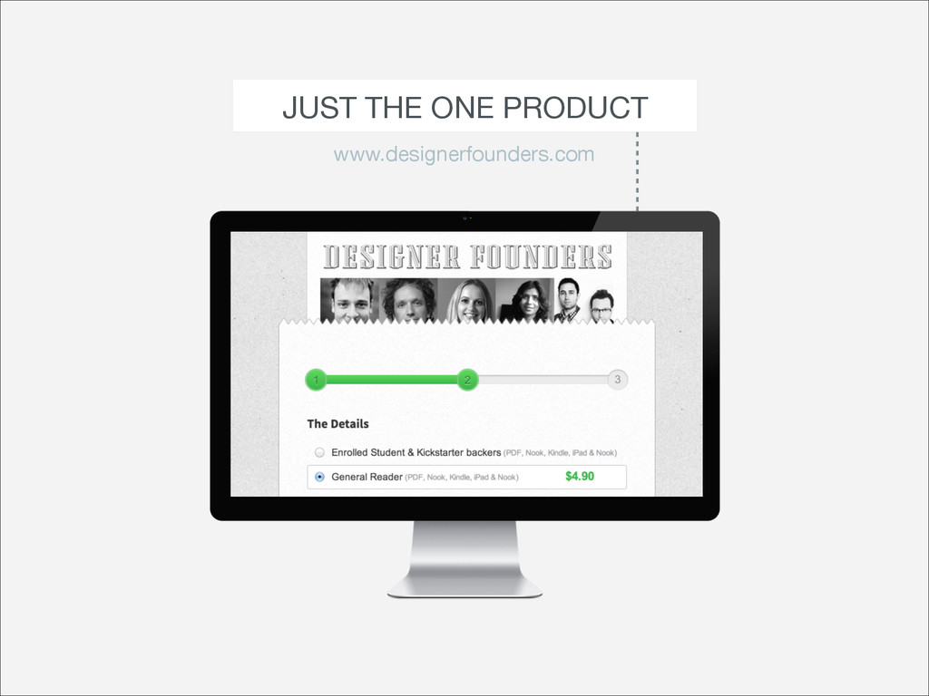 JUST THE ONE PRODUCT www.designerfounders.com