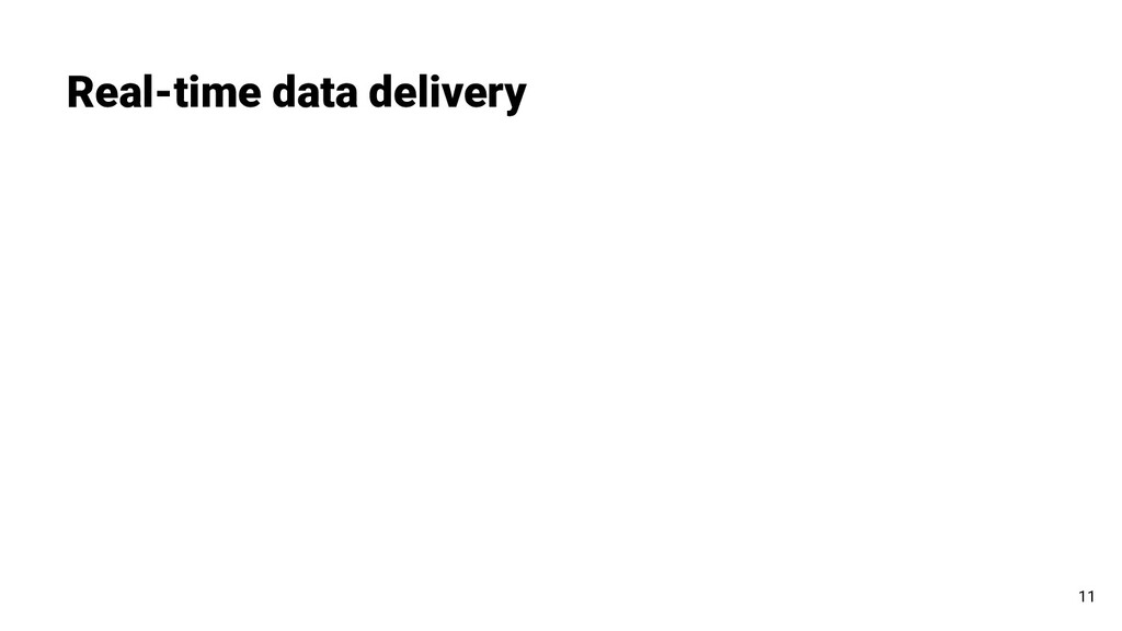 Real-time data delivery 11