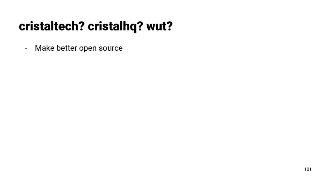 - Make better open source cristaltech? cristalh...