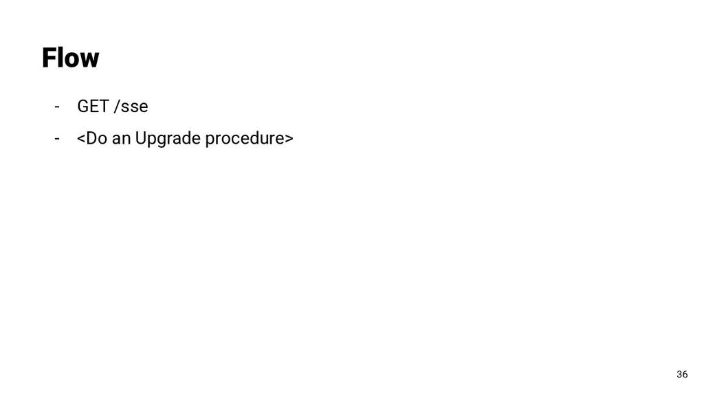 - GET /sse - <Do an Upgrade procedure> Flow 36