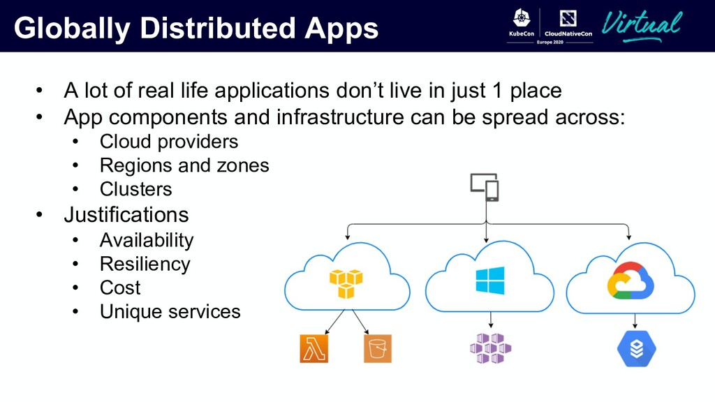 Globally Distributed Apps • A lot of real life ...