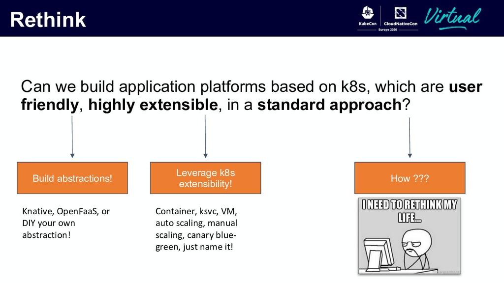 Rethink Can we build application platforms base...