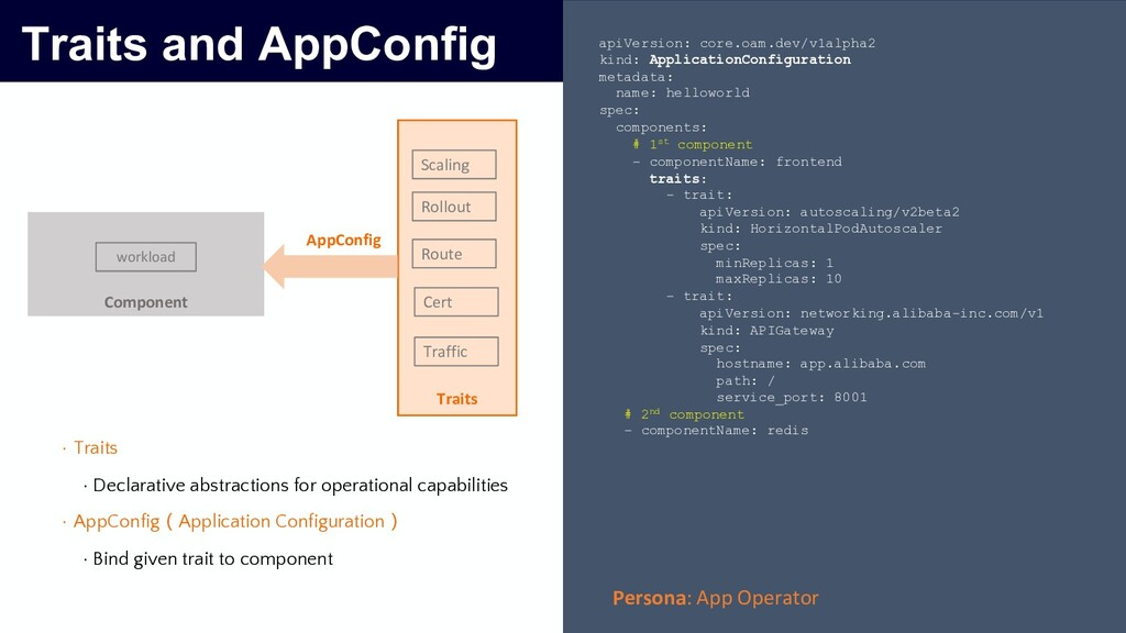 Traits and AppConfig Component Traits Scaling R...