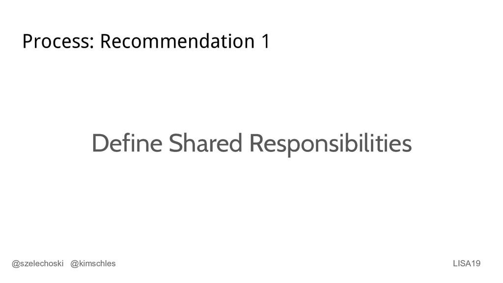 LISA19 @szelechoski @kimschles Process: Recomme...