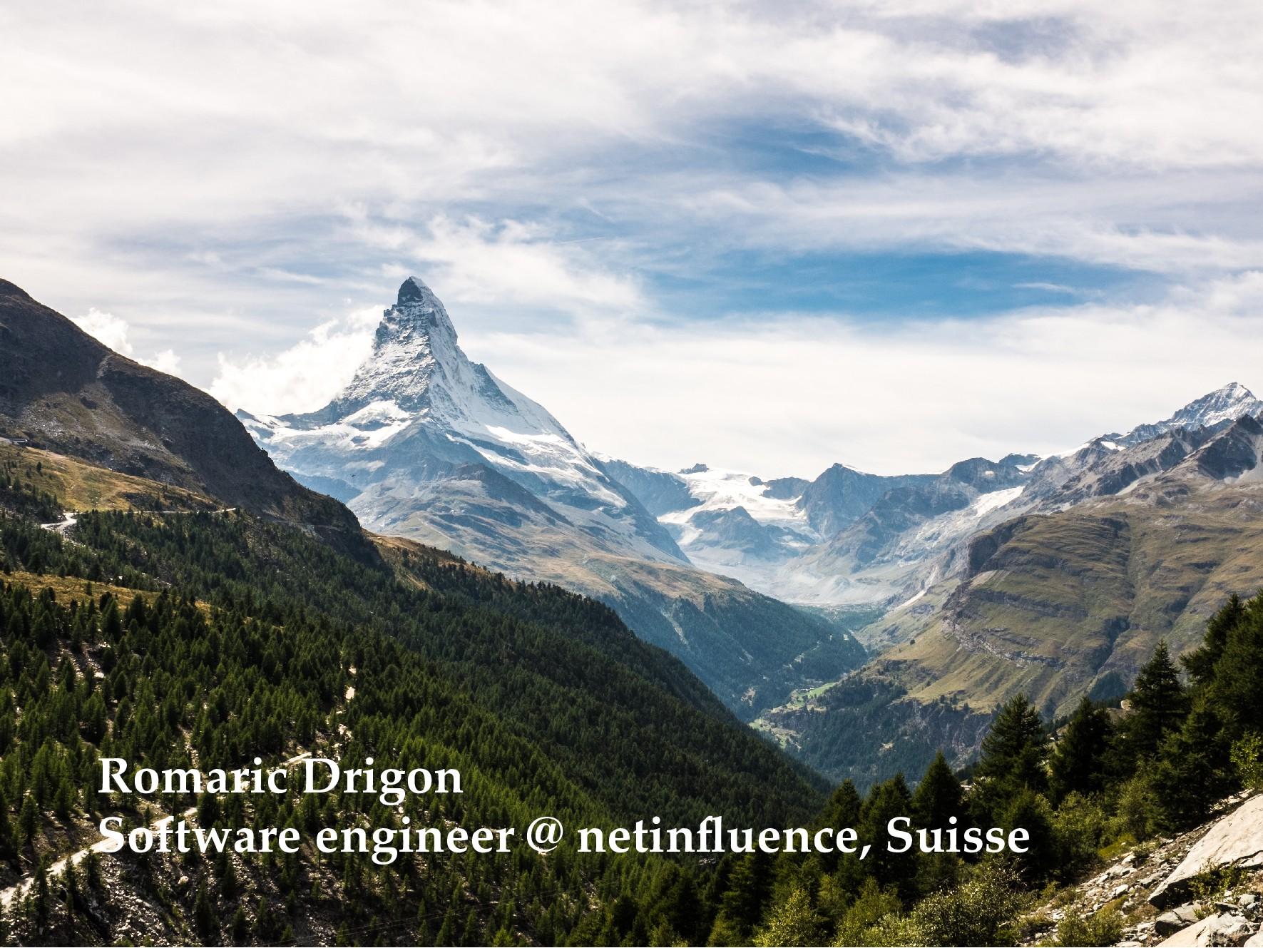 Romaric Drigon Software engineer @ netinfluence,...