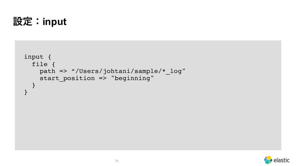 """ઃఆɿinput 35 input { file { path => """"/Users/joht..."""