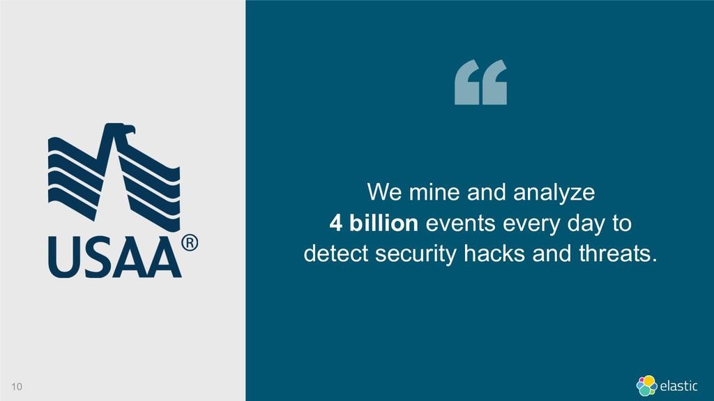 We mine and analyze 4 billion events every day ...