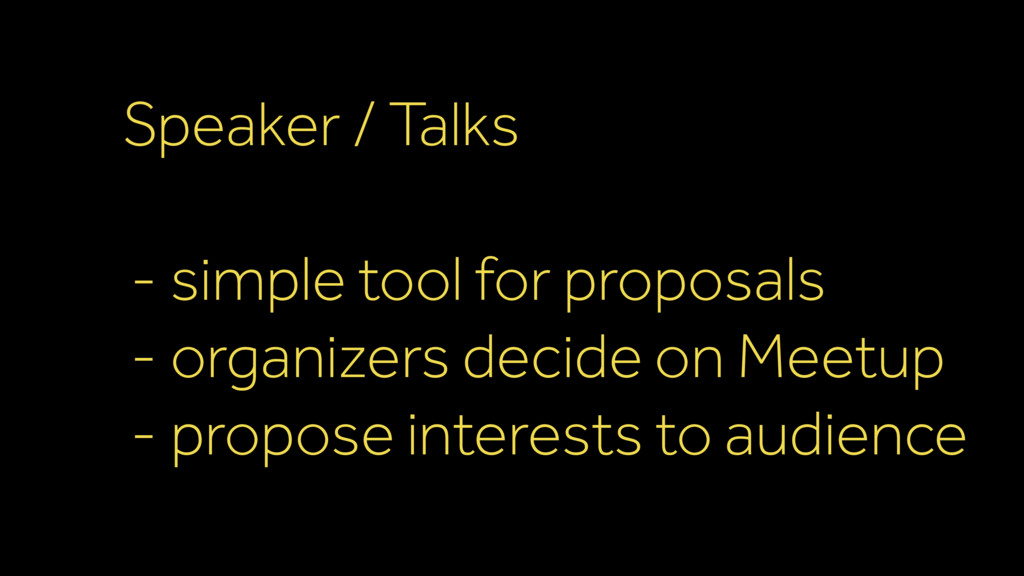 Speaker / Talks - simple tool for proposals - o...