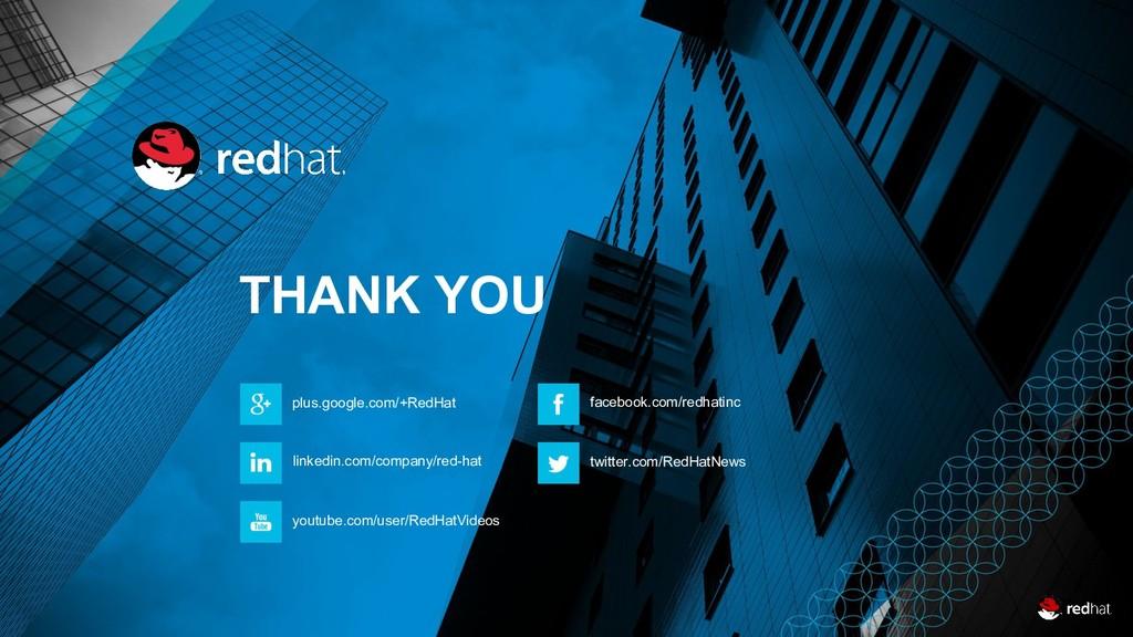 31 THANK YOU plus.google.com/+RedHat linkedin.c...