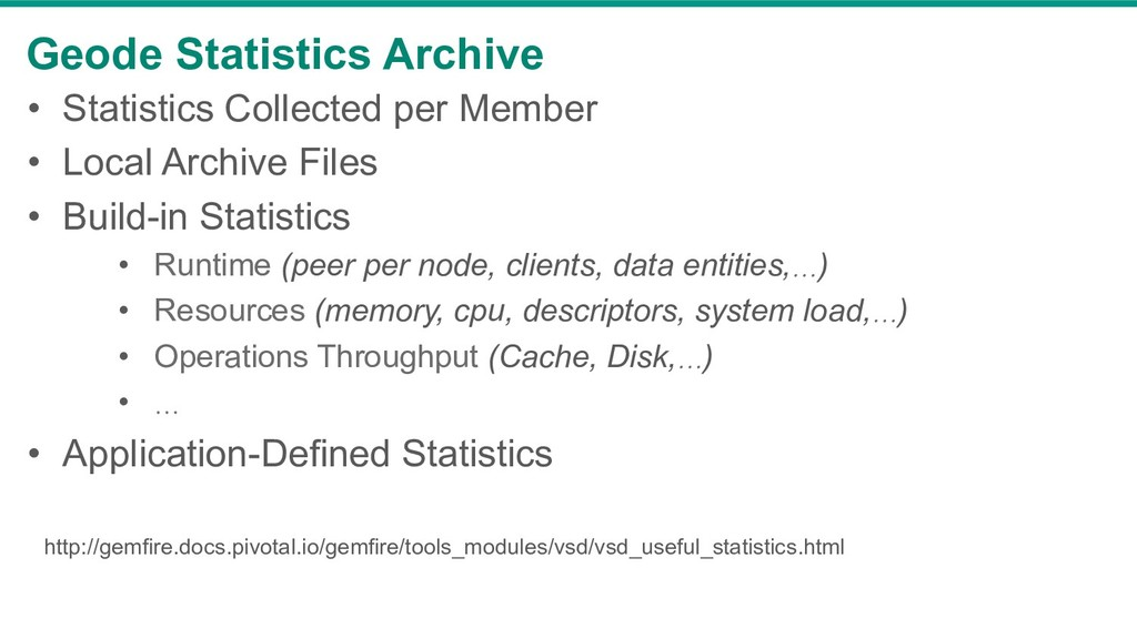 Geode Statistics Archive • Statistics Collecte...