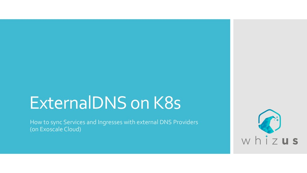 ExternalDNS on K8s How to sync Services and Ing...