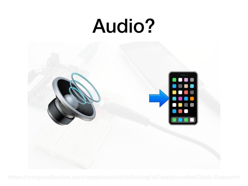 Audio? https://cargocollective.com/apppluswhat/...