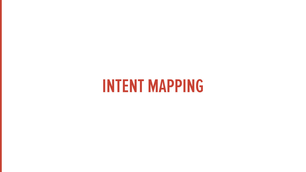 INTENT MAPPING