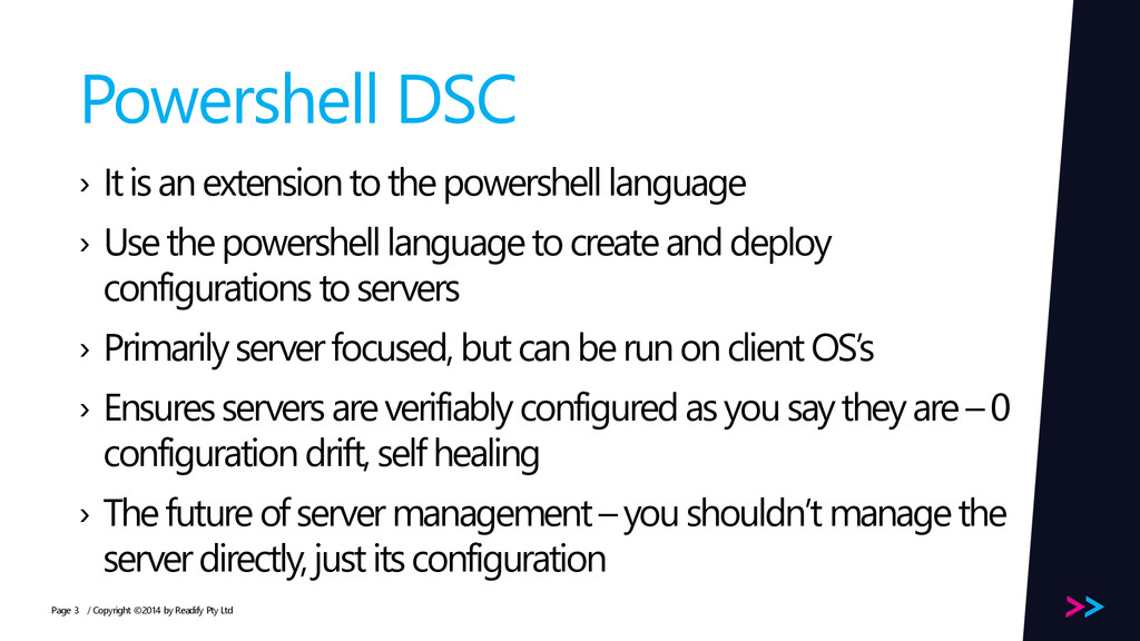 Page Powershell DSC › It is an extension to the...