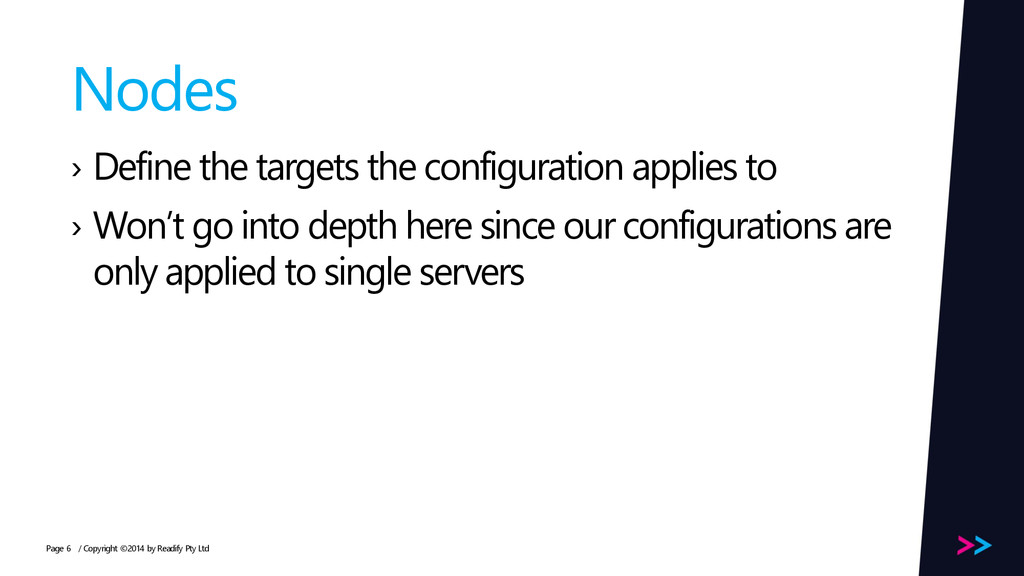 Page Nodes › Define the targets the configurati...