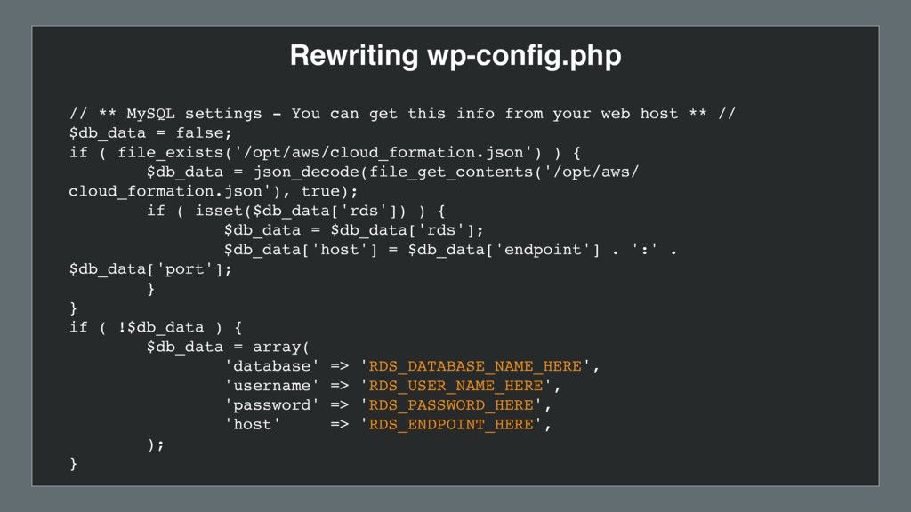 Rewriting wp-config.php // ** MySQL settings - Y...