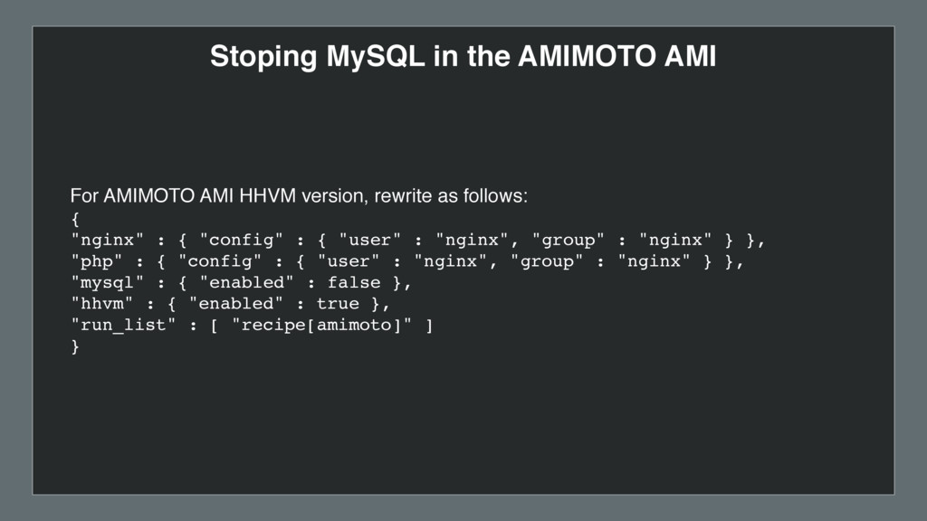 Stoping MySQL in the AMIMOTO AMI For AMIMOTO AM...