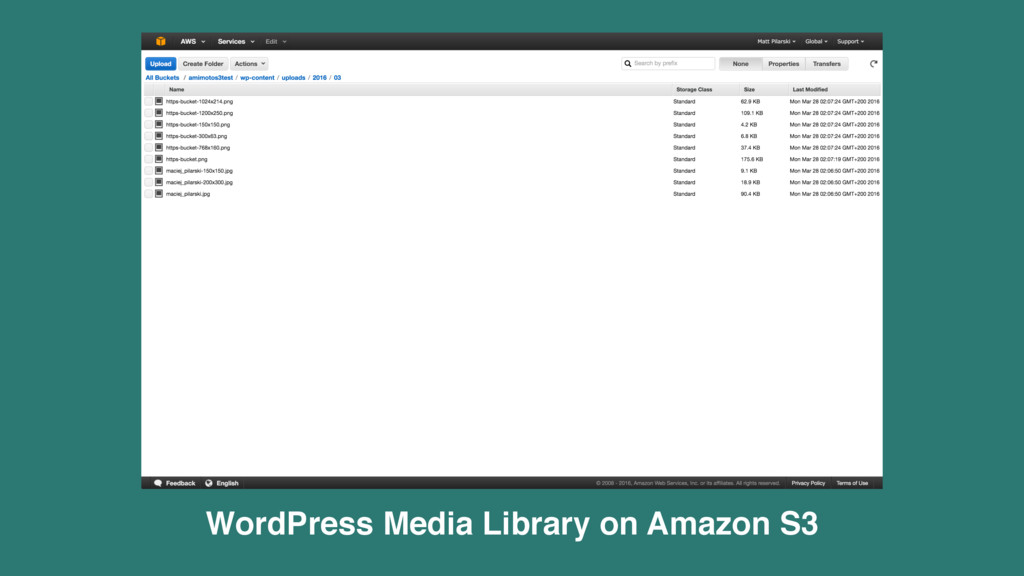 WordPress Media Library on Amazon S3