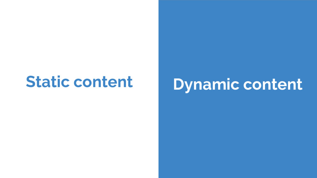 Static content Dynamic content